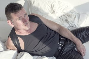 leather worker makes fetish clothing and sex toys for BDSM